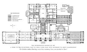 plan of the first floor of the metropolitan museum of art in the