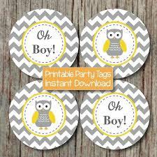 Owl Baby Shower Boy - yellow grey chevron owl baby shower by bumpandbeyonddesigns on zibbet