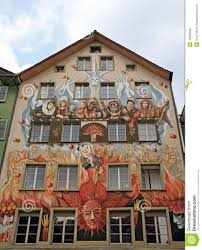 fairy mural painting lucerne switzerland editorial photo image fairy house lucerne medieval mural painting switzerland wall