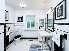 White Subway Tile Bathroom Ideas Glamorous 10 Black White Bathroom Ideas Pictures Inspiration