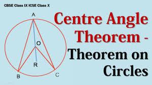 centre angle theorem theorem on circles cbse class ix icse class