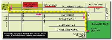 Marta Station Map Parade U0026 Marches Atlanta Pride
