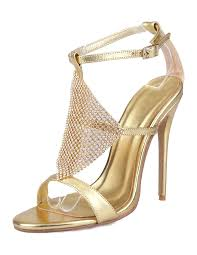 wedding shoes ankle gold wedding shoes high heel sandals rhinestone ankle