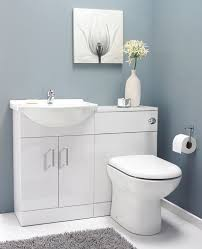 Saturn White Gloss Vanity Basin Unit  Toilet Furniture Suite - Bathroom cabinets in white gloss