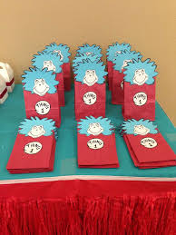 dr seuss birthday party supplies dr seuss thing 1 thing 2 birthday party ideas photo 6 of 20