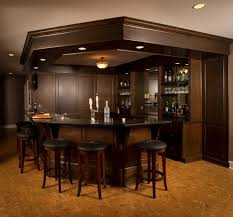 raised ceiling soffit ideas home bar traditional with dark wood