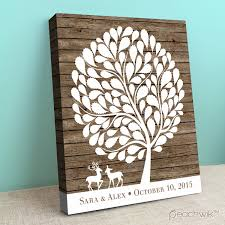 tree guest book wildewik rustic wooden signature guestbook alternative by