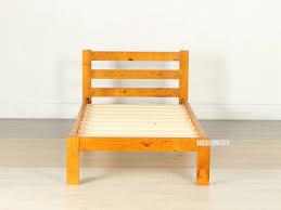 Solid Wood Bed Frame Nz Cottage Solid Pine Bed In King Single Warm Honey Bedroom Nz U0027s