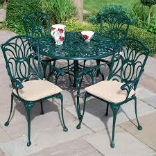 4 Seater Patio Furniture Set - leisuregrow norfolk 4 seater 100cm round aluminium table with