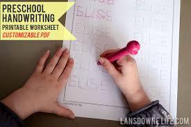 preschool handwriting worksheet free printable lansdowne life