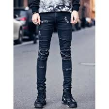 Ripped Knee Jeans Mens Ripped Skinny Jeans Men Cheap Casual Style Online Free Shipping At
