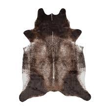 Faux Cowhide El Paso Dark Brown Faux Cowhide Rug Ecarpet Gallery Touch Of