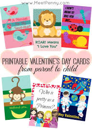 free valentines cards printable valentines day cards from parent to child meet