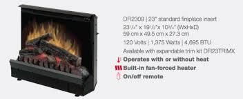 Dimplex Electric Fireplace Insert Dimplex Dfi2309 Electric Fireplace Insert Review Heating And