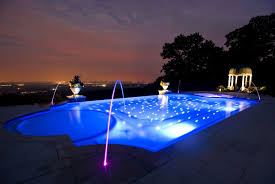 Concrete For Backyard swimming pool wonderful exotic lighting for backyard pool using