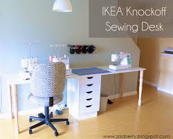 zaaberry diy ikea knockoff sewing table sewing room redo