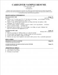 caregiver resume exles brilliant ideas of resume sles for caregiver caregiver resume