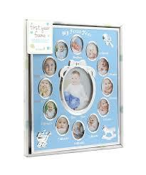amazon com tiny ideas baby u0027s first year keepsake picture photo