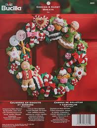 amazon com bucilla felt applique wreath kit 15 inch round 86264
