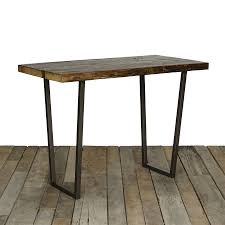 reclaimed wood pub table sets brooklyn bistro table high top tables woods and industrial furniture