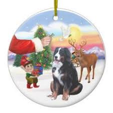santa u0027s little pals bernese mountain dog christmas ornament