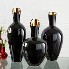 gold set of 3 decorative vases
