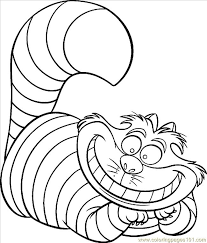 Coloring Page Cheshire Cat Color Coloring Page Free Cat Coloring Pages by Coloring Page