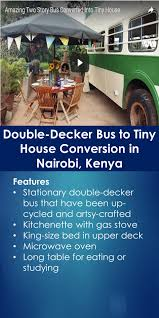 double decker bus to tiny house conversion in nairobi kenya