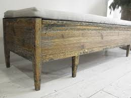Upholstered Storage Bench Anton Swedish Provincial Thc Bench In Antique Linen This