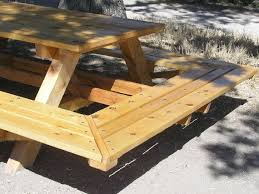 How To Build A Round Picnic Table And Benches by Chic Large Picnic Table How To Build A Picnic Table And 6 Benches