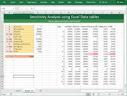 Financial Analysis Excel Template Financial Decisions With Excel Sensitivity Analysis