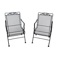 Black Rocking Chairs Lowes Patio Ideas Black Wrought Iron Slat Patio Chair Wrought Iron