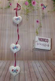 Home Interior Collectibles Vintage Homco Home Interiors 3 Ceramic Floral Hearts