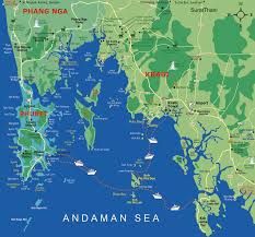 Phuket Map Map Of Phi Phi Ferry Destination Routs