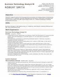 Etl Resume Business Technology Analyst Resume Samples Qwikresume