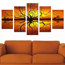 abstract tree multi panel landscape canvas painting 5