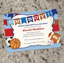 sport themed baby shower oh boy all sports baby shower invitation boy baby shower