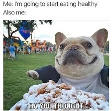 Healthy Food Meme - i m going to start eating healthy cute funny memes daily lol pics