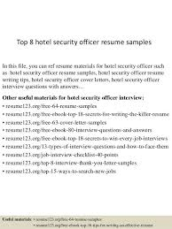 Information Security Resume Template Hotel Security Resume Professional Hotel Security Guard Templates