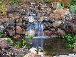 Waterfall Backyard Pond Pictures Waterfalls Backyard Koi Pond