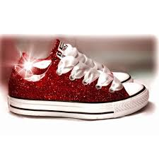 burgundy red glitter crystals converse all stars wedding bridal