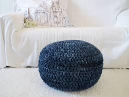 Navy Ottoman Navy Blue Floor Pouf Ottoman Footstool Tie Dye Navy Floor