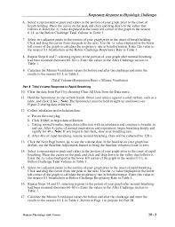 Challenge Breathing 20 Respiratory Response