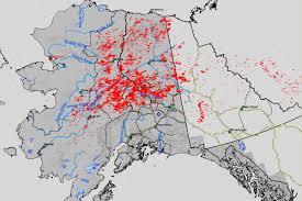 Lightning Strike Map Lightning Sparked Dozens Of New Wildfires Across Alaska Over The