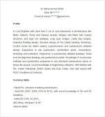 Civil Engineering Resume Templates Download Bridge Engineer Sample Resume Haadyaooverbayresort Com