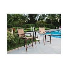 Patio Furniture Chairs 3 Bar Height Bistro Table Chair Set Patio