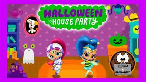 nick jr halloween coloring pages nick jr halloween house party shimmer and shine part 2 dip