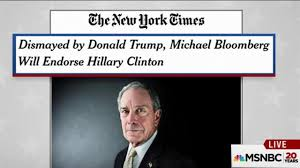 Hillary Clinton Hometown Ny by Former New York City Mayor Bloomberg To Endorse Hillary Clinton