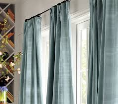 How To Make A Closet With Curtains How To Hang A Drape Pottery Barn