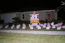 birthday yard flocking decorations tampa fl call today 813